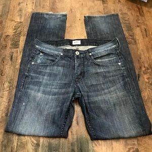 Hudson Jeans Dark Wash Distress  Size 30